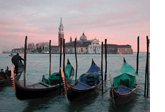 View of Venice and Gondolas
